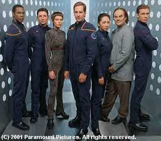Mayweather, Reed, T'Pol, Archer, Sato, Phlox, and Tucker